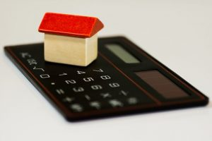 a house and a calculator