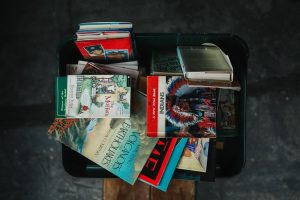 books in the suitcase