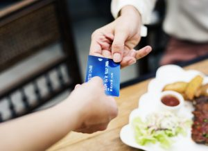 handling the credit cards
