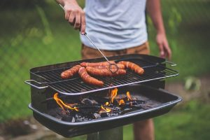 Barbecue  with sausages