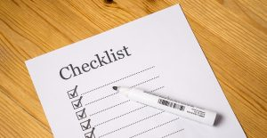 A checklist, it is important to make one when moving to Durham