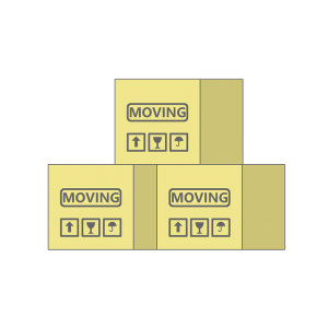Some boxes that were labeled