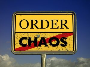A sign- 'order and chaos'