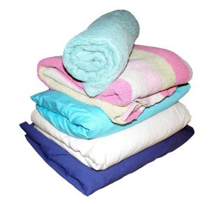 Towels, pillowcases, blankets