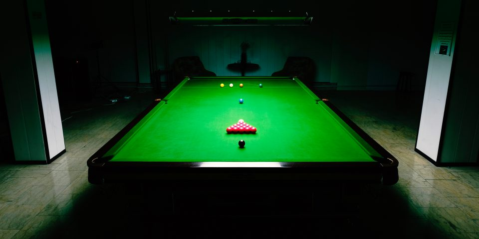 Image of a snooker table