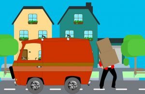 Cartoon of moving day