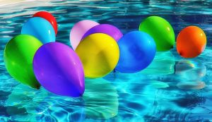 Balloons in a pool