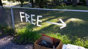 Sign for free stuff