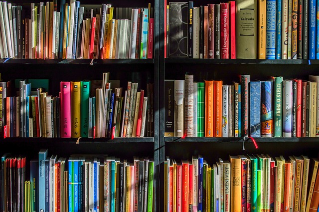 bookshelf before you pack your book collection