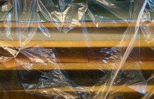 Plastic to protect your items if it's raining on your moving day