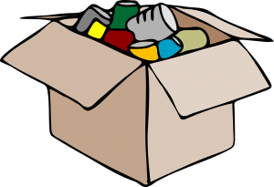 A box with packed things