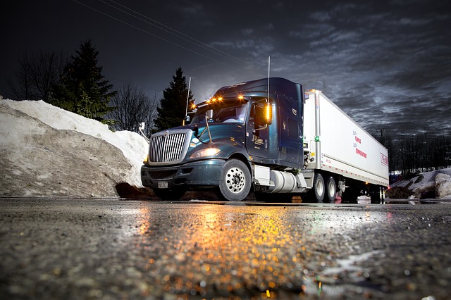a truck moving in January
